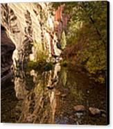 Into The Canyon  Canvas Print by Saija  Lehtonen
