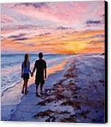 Into The Sunset Canvas Print by Mary Giacomini