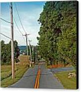 Into Town Canvas Print by Skip Willits