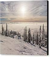 Inversion Sunset Canvas Print by Aaron Aldrich