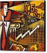 Investor Canvas Print by Leon Zernitsky