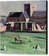 Iona Abbey From The Northwest Canvas Print by Francis Campbell Boileau Cadell