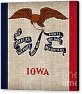 Iowa State Flag Canvas Print by Pixel Chimp