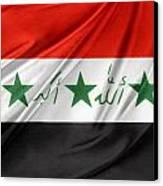 Iraq Flag Canvas Print by Les Cunliffe