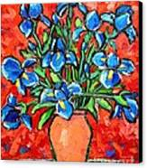 Iris Bouquet Canvas Print by Ana Maria Edulescu