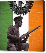 Irish 1916 Volunteer Canvas Print by David Doyle