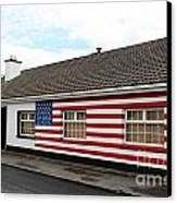 Irish Cottage Moneygall Canvas Print by Ros Drinkwater