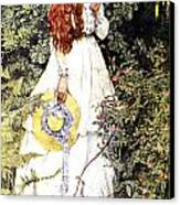 Is She Not Pure Gold My Mistress Canvas Print by Eleanor Fortescue Brickdale