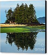 Island Reflection Canvas Print by Robert Bales