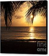 Island Sunset Canvas Print by Charles Dobbs