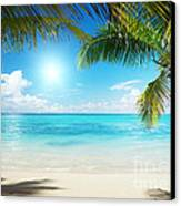 Islands In The Caribbean Sea Canvas Print by Boon Mee
