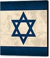 Israel Flag Vintage Distressed Finish Canvas Print by Design Turnpike