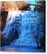 Ithaca Water Falls New York Panoramic Photography Canvas Print by Paul Ge