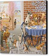 It's A Dog's World Canvas Print by Victor Powell