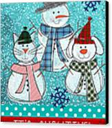 It's Snowtime Canvas Print by Linda Woods