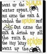 Itsy Bitsy Spider Canvas Print by Jaime Friedman