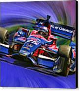 Izod Indycar Series Marco Andretti  Canvas Print by Blake Richards