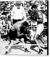 Jack Dempsey Fights Tommy Gibbons Canvas Print by Everett