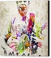 Jack Johnson Portrait Canvas Print by Aged Pixel