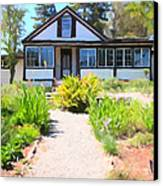 Jack London Countryside Cottage And Garden 5d24565 Long Canvas Print by Wingsdomain Art and Photography