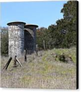 Jack London Ranch Silos 5d22146 Canvas Print by Wingsdomain Art and Photography