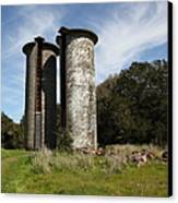 Jack London Ranch Silos 5d22161 Canvas Print by Wingsdomain Art and Photography
