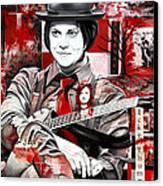 Jack White Canvas Print by Joshua Morton