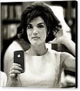 Jacky Kennedy Takes A Selfie Canvas Print by Tony Rubino