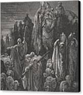 Jacob Goeth Into Egypt Canvas Print by Gustave Dore