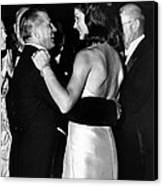 Jacqueline Kennedy Dancing Canvas Print by Retro Images Archive