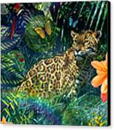 Jaguar Meadow Canvas Print by Alixandra Mullins