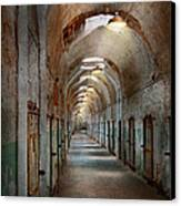 Jail - Eastern State Penitentiary - Endless Torment Canvas Print by Mike Savad
