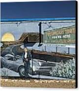 James Dean Mural In Tucumcari On Route 66 Canvas Print by Carol Leigh