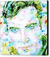 James T. Kirk - Watercolor Portrait Canvas Print by Fabrizio Cassetta
