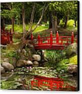 Japanese Garden - Meditation Canvas Print by Mike Savad