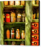 Jars - Ingredients II Canvas Print by Mike Savad