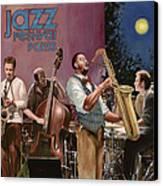 jazz festival in Paris Canvas Print by Guido Borelli