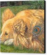Jealous Jessie Canvas Print by Emily Hunt and William Holman Hunt