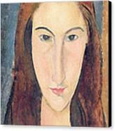 Jeanne Hebuterne Canvas Print by Amedeo Modigliani