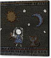 Jeans Stitches Canvas Print by Gianfranco Weiss
