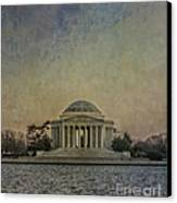 Jefferson Memorial At Dusk Canvas Print by Terry Rowe