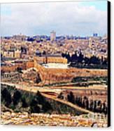 Jerusalem From Mount Olive Canvas Print by Thomas R Fletcher