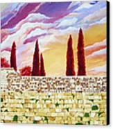 Jerusalem Prayers Canvas Print by Dawnstarstudios