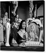 Jesus And Mary At The Curio Shop Canvas Print by Bob Orsillo
