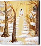 Jesus Art - The Christ Childs Asleep Canvas Print by Ashleigh Dyan Bayer