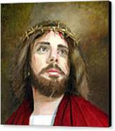 Jesus Christ Crown Of Thorns Canvas Print by Cecilia Brendel