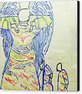Jesus Guardian Angel Canvas Print by Gloria Ssali
