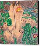 Jesus The Celebrity Canvas Print by Lisa Piper Menkin Stegeman