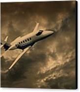 Jet Through The Clouds Canvas Print by David Dehner