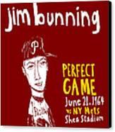 Jim Bunning Philadelphia Phillies Canvas Print by Jay Perkins